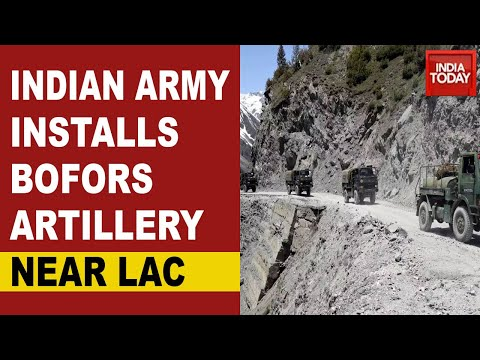 India China Standoff: Indian Army Installing BOFORS Artillery Near LAC; Artillery Guns Transported
