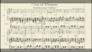 Cries of Whispers - Sheet music for Piano