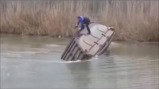 excavator fail with titanic music