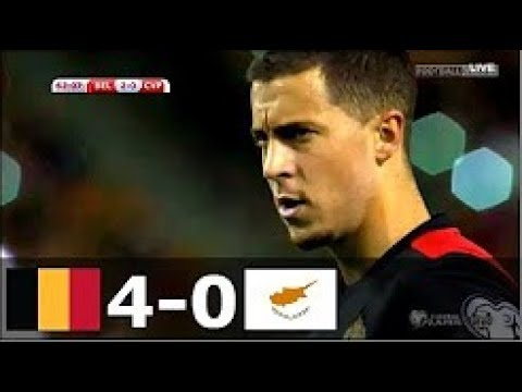 Belgium vs Cyprus 4-0 Highlights & Goals - 10 October 2017   YouTub
