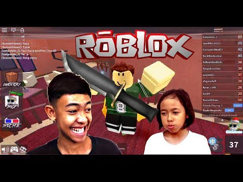 I Kill My Younger Sister In Murder Mystery 2 (ROBLOX) She Was Angry!!!!!!!