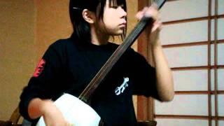 戸野かなみ 三味線 14year-old Japanes Shamisen 吉田兄弟 鼓動.