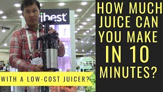 How Much Juice Can You Make in 10 Minutes in the Shine Inexpensive Juicer?