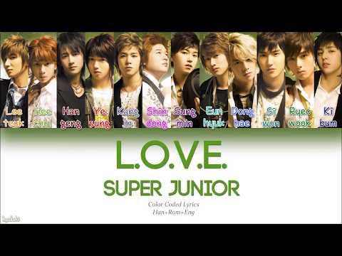 Super Junior (슈퍼주니어) – L.O.V.E. (Color Coded Lyrics) [Han/Rom/Eng]
