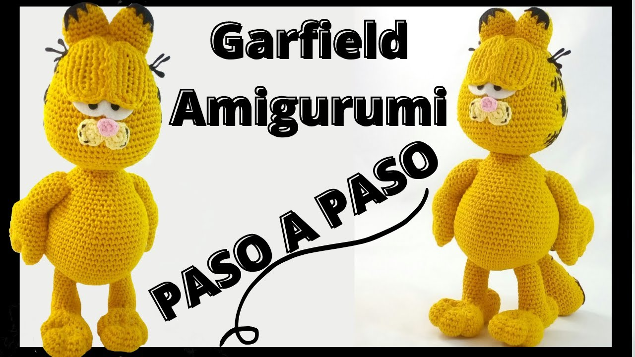 🐱 GARFIELD AMIGURUMI 🐱 - CROCHET- AVANZADO🐱 - YouTube