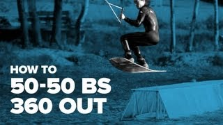 Как сделать 50-50 bs 360 out на вейке (How to 50-50 bs 360 out on wakeboard)