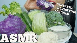 ASMR RAW VEGGIE PLATTER (EXTREME CRUNCHY SATISFYING EATING SOUNDS) NO TALKING | SAS-ASMR