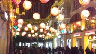 Chinese New Year decorations at Senado Square, Macau