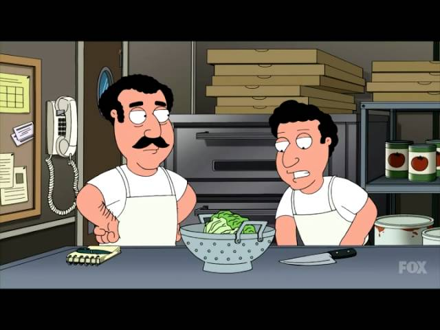 Family Guy Every Pizza Place Salad