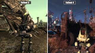 Fallout 4 versus Fallout 3 | Trailer Grafikvergleich / Graphics comparison