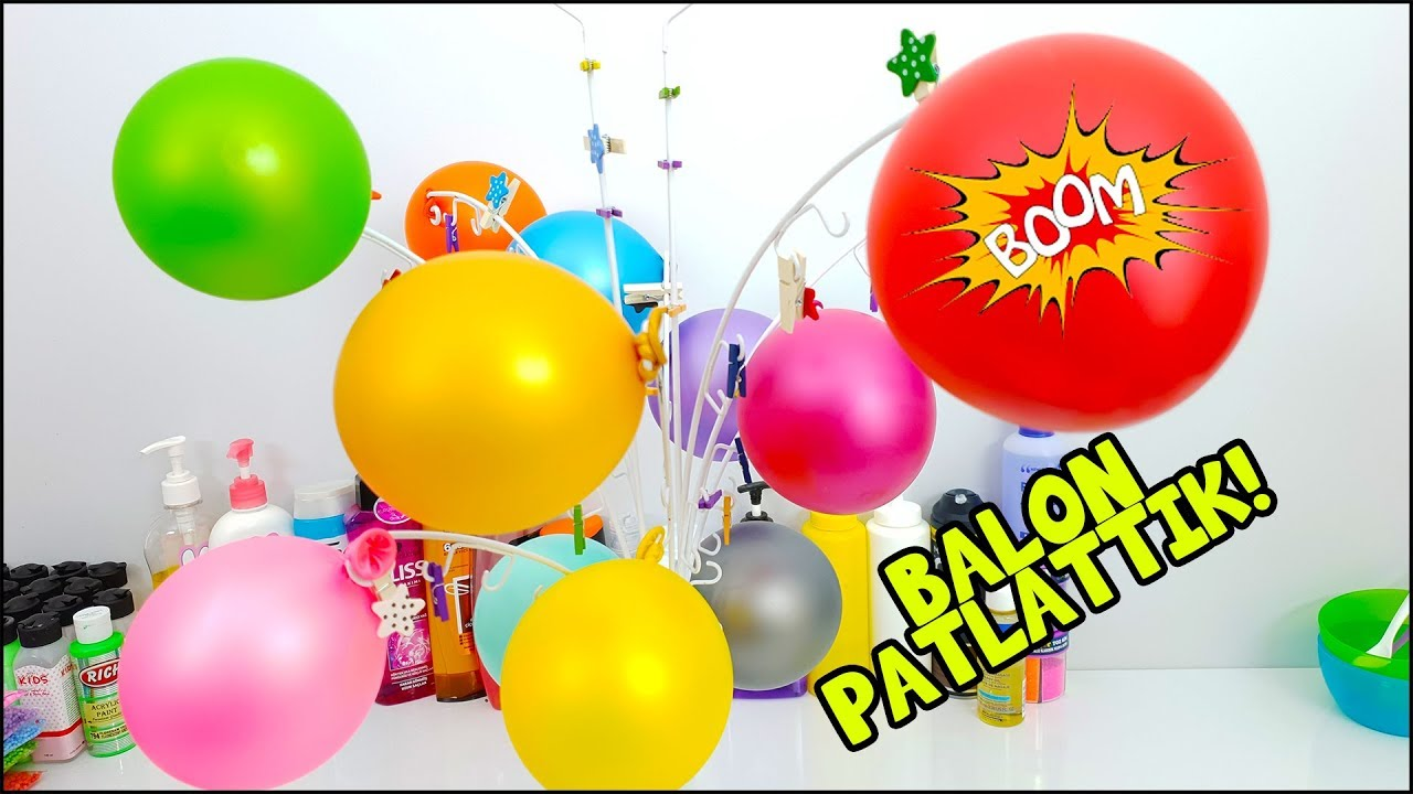 Balon Patlattik Slime Agaci Ile Eglenceli Slime Challenge Vak