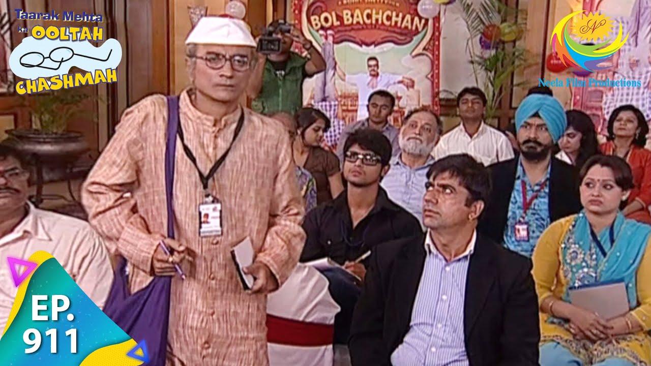 Download Taarak Mehta Ka Ooltah Chashmah - Episode 911 - Full Episode