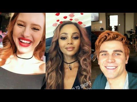 RIVERDALE   Madelaine Petsch, Vanessa Morgan & KJ Apa   Instagram Story Videos   February 14 2018