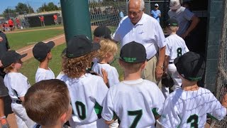 Thousand Oaks Little League 7U All Stars with Tommy Lasorda 2015 All-Star Game  www.cathy-byrd.com