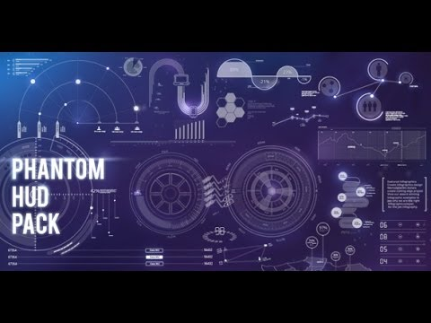 Phantom HUD Infographic ( After Effects Template ) - YouTube