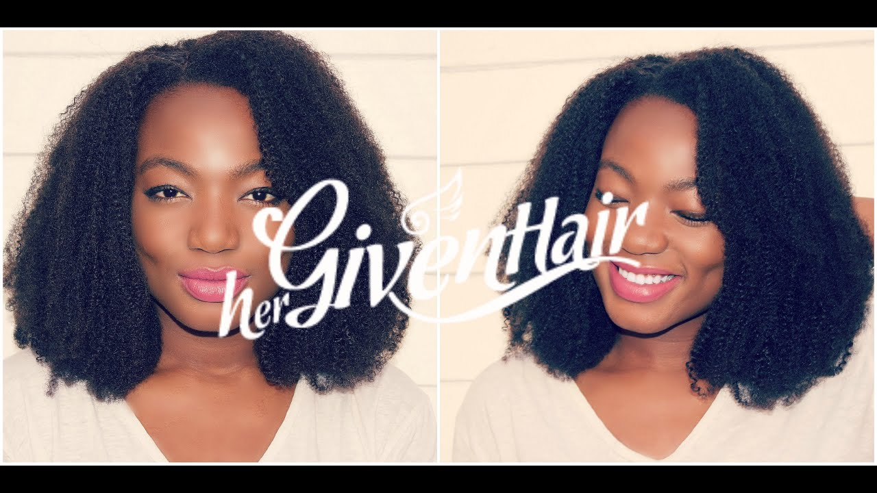 my first natural hair sew-in with closure protective style |hergivenhair|