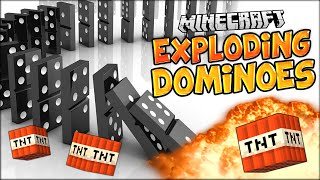 EXTREMELY SATISFYING EXPLODING DOMINOES IN MINECRAFT (Minecraft HUGE Explosion Chain)