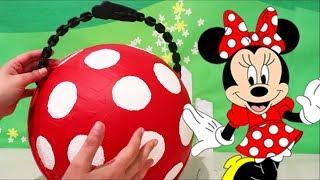 Brinquedonovelinhas Brincando com a Bola Gigante Customizada de LOL da Minnie Com Surpresas