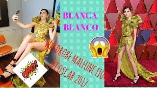 BLANCA BLANCO WALDROBE MALFUNCTION AT OSCAR 2017