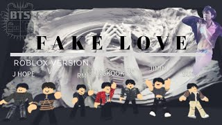 FAKE LOVE shooting Studio!! [BTS] DOIT REGARDER! roblox ver.