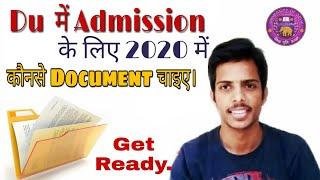 IMPORTANT Documents for Registration In DU  DU ADMISSION 2019-20  CLUSTERcareer