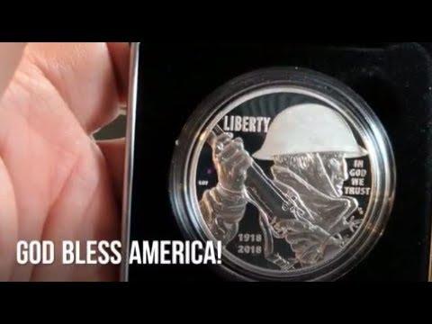 2018 World War I Centennial Silver Dollar - US Mint WWI Commemorative 90% Silver Dollar