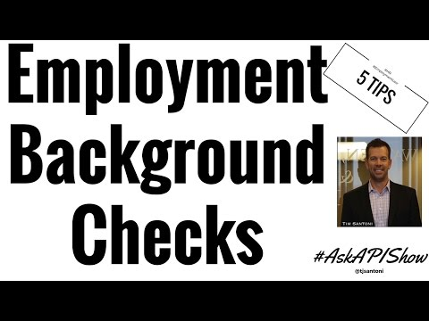5 Employment Background Screening Tips and Tricks - Ask a Private Investigator Show