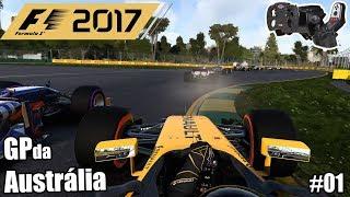 F1 2017 GP da Austrália! Gameplay Modo Carreira #01