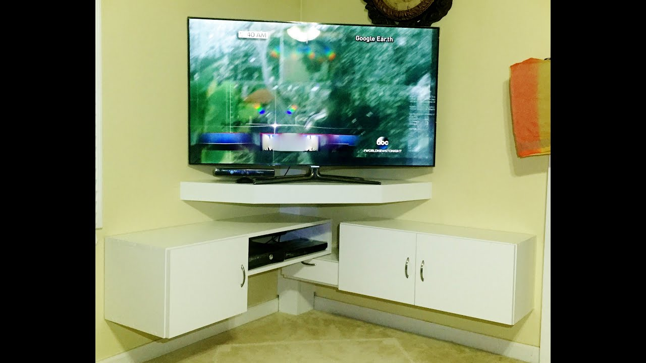 Beau DIY   CORNER TV STAND   YouTube
