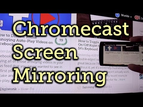 How to Enable the Chromecast Screen Mirroring Feature « Cord Cutters