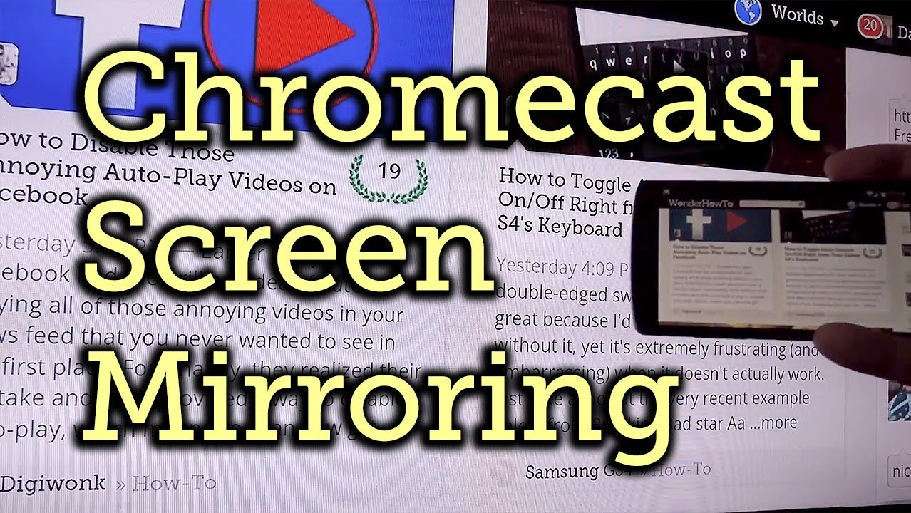How to Enable the Chromecast Screen Mirroring Feature « Cord