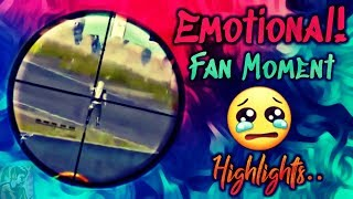 PUBG MOBILE EMOTIONAL FAN MOMENT | DIE HARD FAN OF DYNAMO GAMING