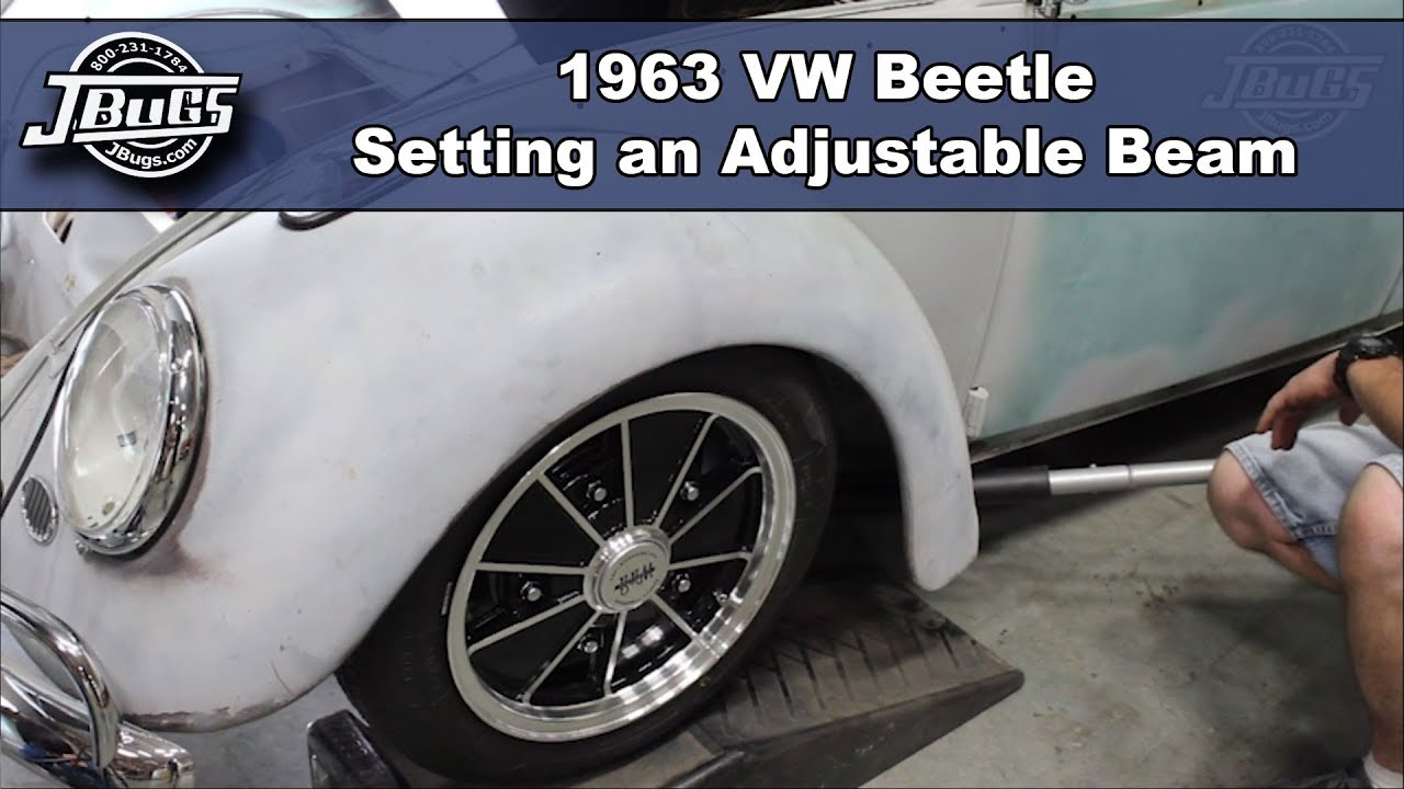Jbugs 1963 Vw Beetle Setting An Adjustable Beam Youtube Volkswagen Wiring Harness