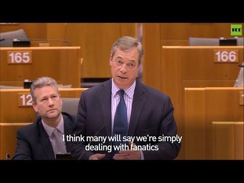 """Nigel Farage calls the EU """"fanatics"""" over #Brexit"""