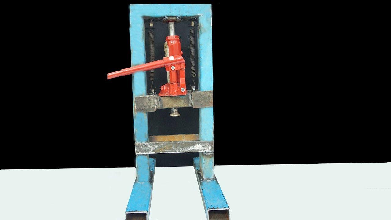 Wow !!! DIY Mini Hydraulic Press - YouTube