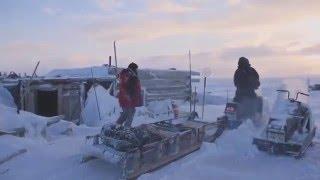 Зимняя рыбалка. Рыбаки моря Лаптевых  02.2016