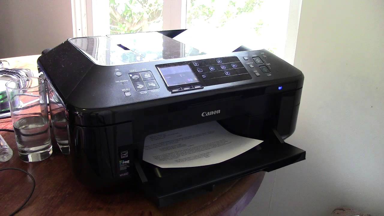 Canon PIXMA MX892 All-in-One Officejet Printer Overview ...