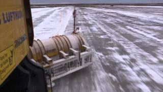 Bornholms Lufthavn - når sneen falder