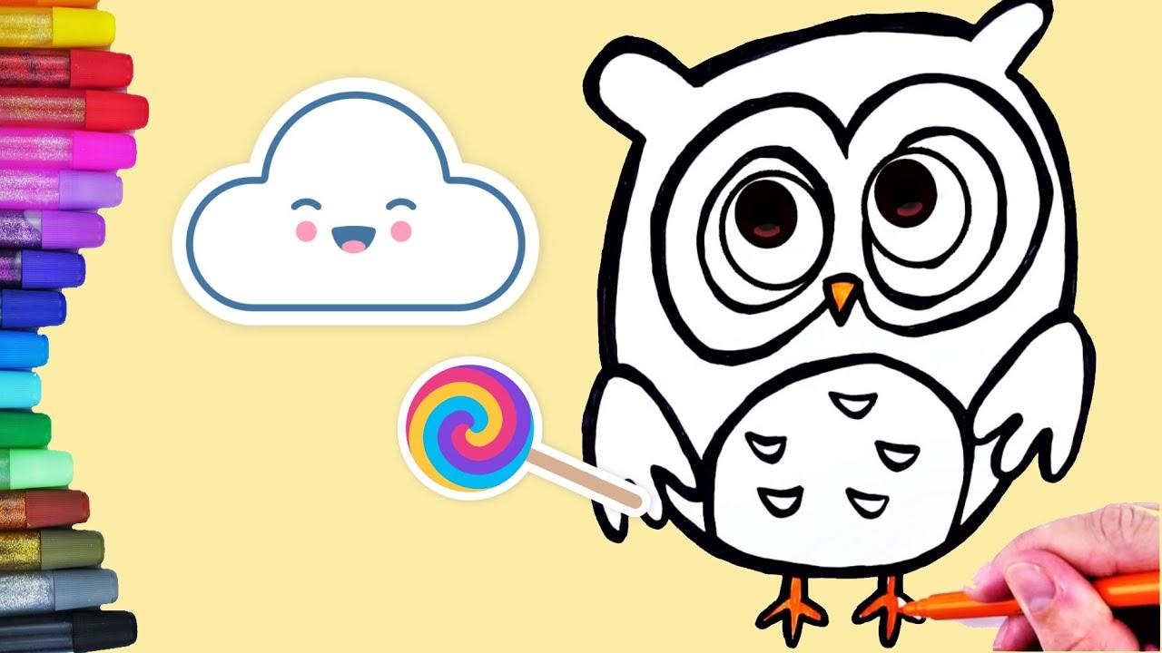eule zeichnen  malvorlage für kinder owl coloring pages