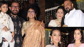 Many Bollywood Celebs Attend Aamir Khan Diwali Party   Live Bollywood Updates