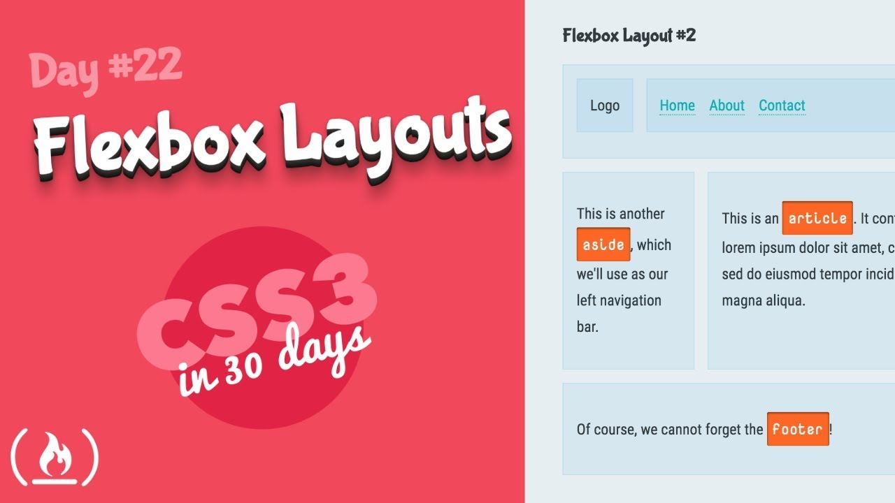 Flexbox Layouts: CSS Tutorial (Day 22 of CSS3 in 30 Days) - YouTube