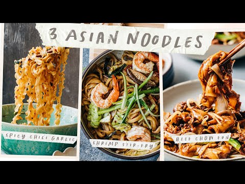 3 Best NOODLES Recipes - Easy ASIAN Noodles for Lunar New Year!