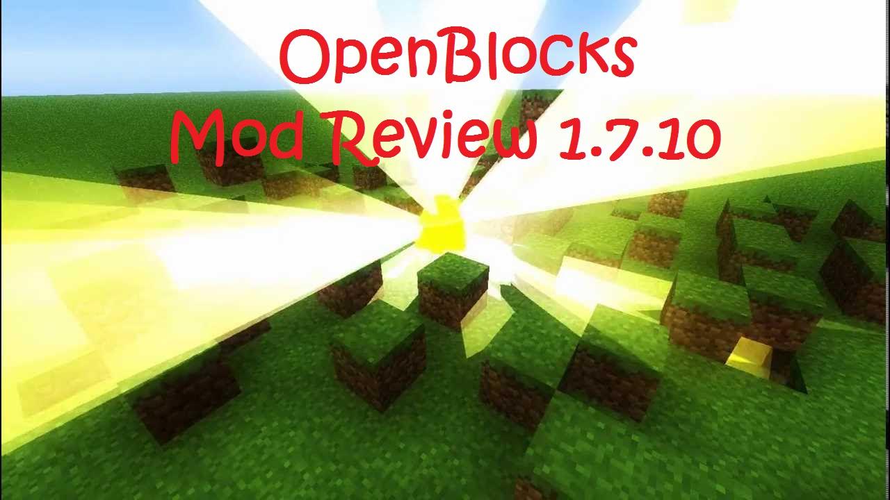 OpenBlocks Mod 1.7.10/1.6.4 | Minecraft Mod