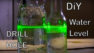 Drill a Hole in a Glass Bottle make a Water Level greenpowerscience DIY glass drilling