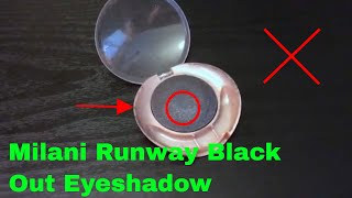 ✅  How To Use Milani Runway Black Out Eyeshadow Review