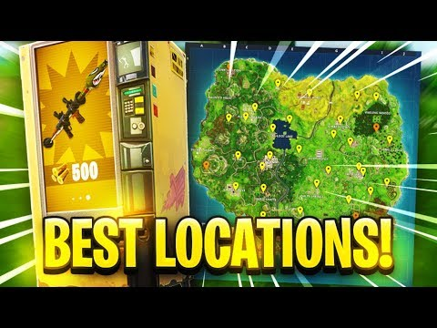 ALL VENDING MACHINE LOCATIONS in Fortnite