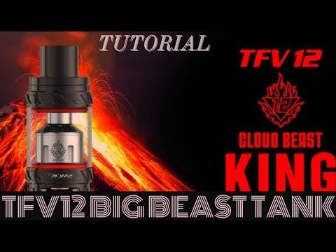 TFV12 BIG ASS BEAST TANK TUTORIAL, TAKE IT APART, CLEAN IT, PUT IT BACK TOGETHER.