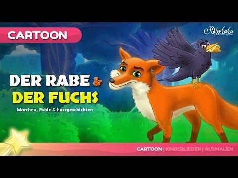 Der Rabe und der Fuchs Märchen | Gutenachtgeschichte für kinder