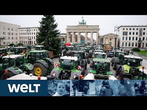 BERLIN STEHT STILL: Bauern Kämpfen Für Gülle Und Glyphosat