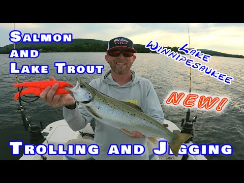 Fishing For Salmon And Lake Trout On Lake Winnipesaukee